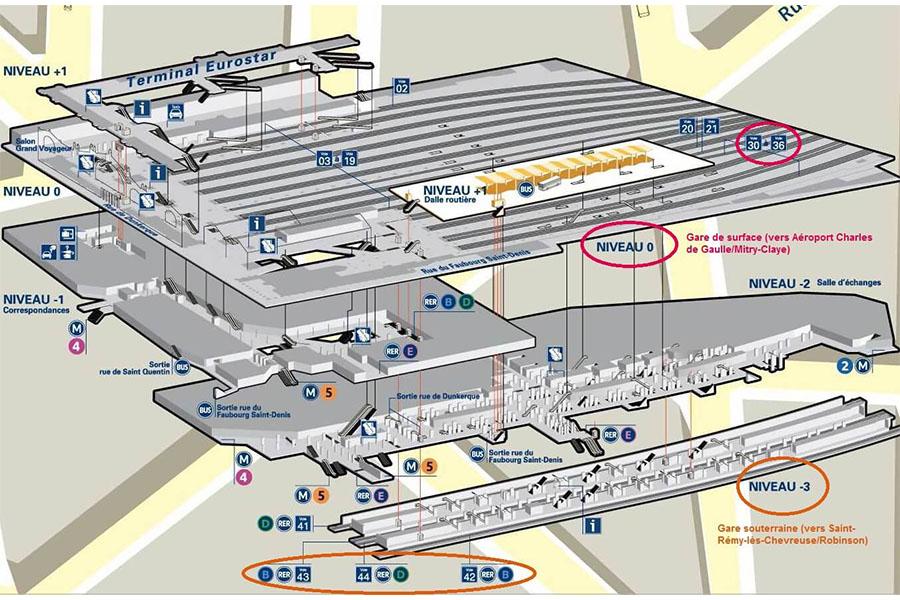 plan-acces-interieur-paris-gare-du-nord