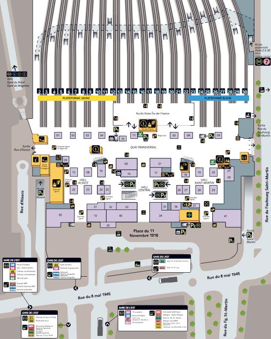 plan-acces-interieur-et-exterieur-paris-gare-de-l-est