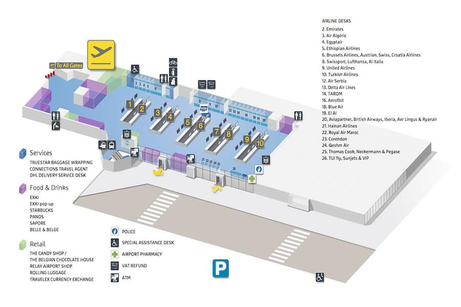 plan-acces-interieur-aeroport-bruxelles-zaventem
