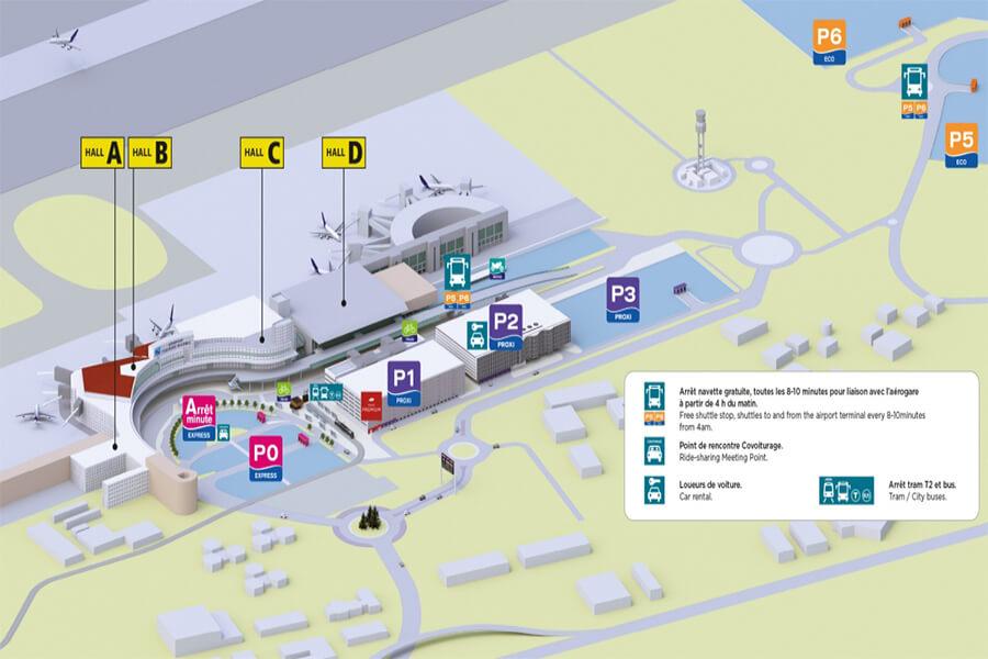 plan-acces-exterieur-aeroport-toulouse-blagnac