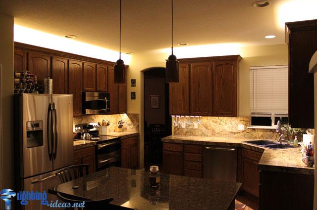 افضل التصاميم لاضاءة خزائن المطبخ