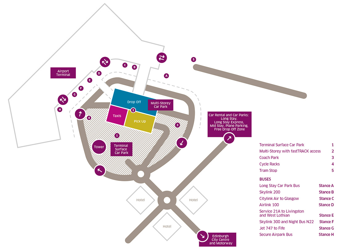 Luton Mid Term Parking >> Car Park Map Edinburgh Airport