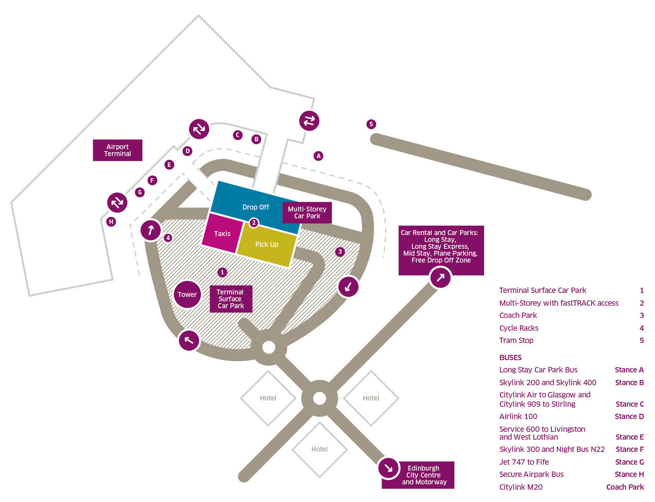 Edinburgh Parking Map Taxis | Edinburgh Airport