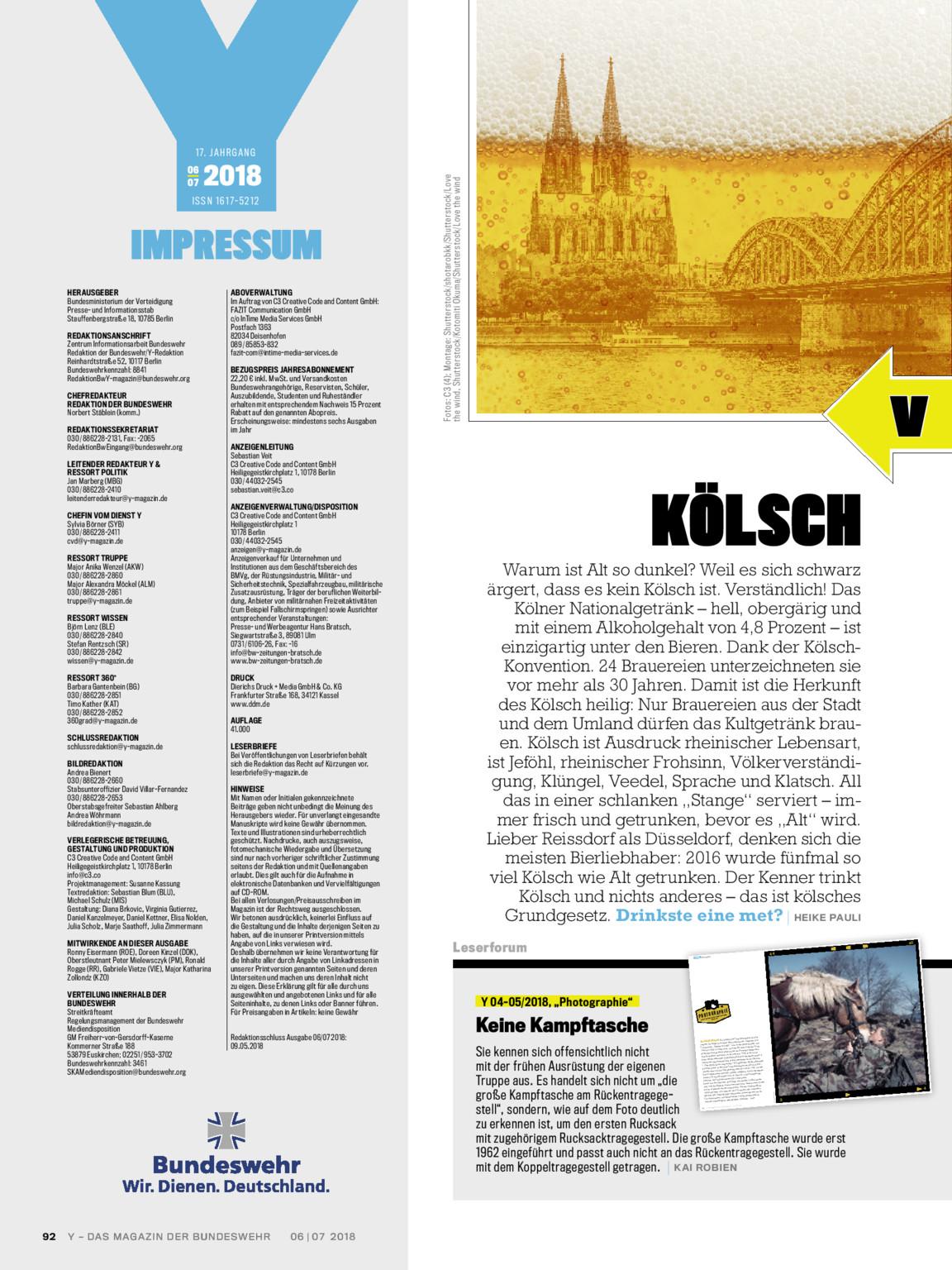 Y Magazin 0607 2018 Bundeswehr Media