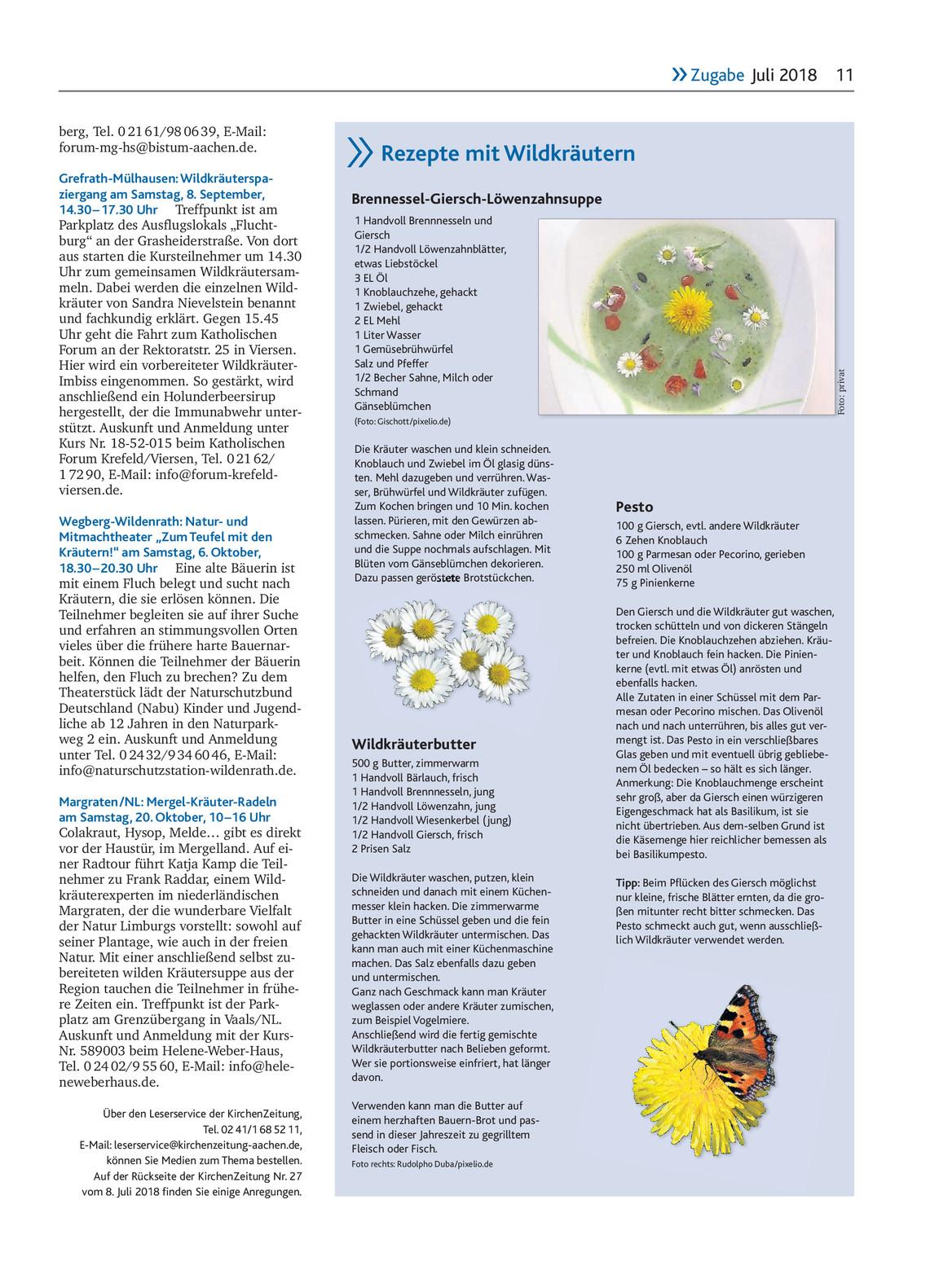 Kiz Ausgabe Zugabe 272018 Kirchenzeitung Für Das Bistum Aachen