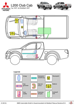 L200 Club Cab Rettungsdatenblatt (ab Modelljahr 2007)