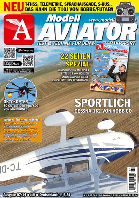 Modell AVIATOR Ausgabe 07/2014