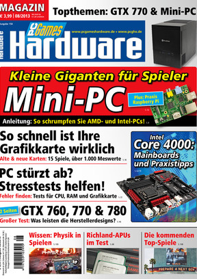 PC Games Hardware 08/2013