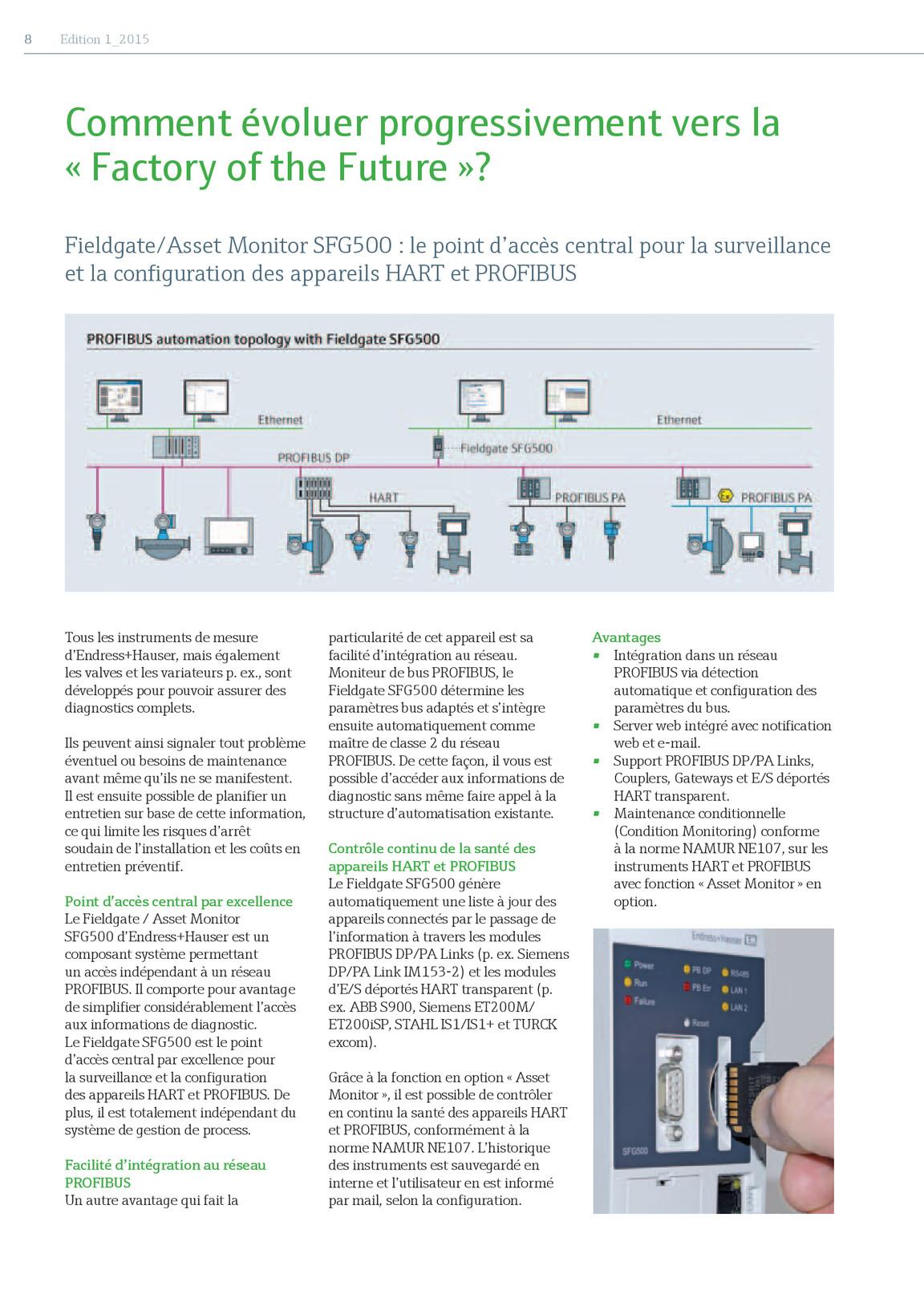 Inform 1 2015 (BE)   Endress+Hauser AG Kiosk
