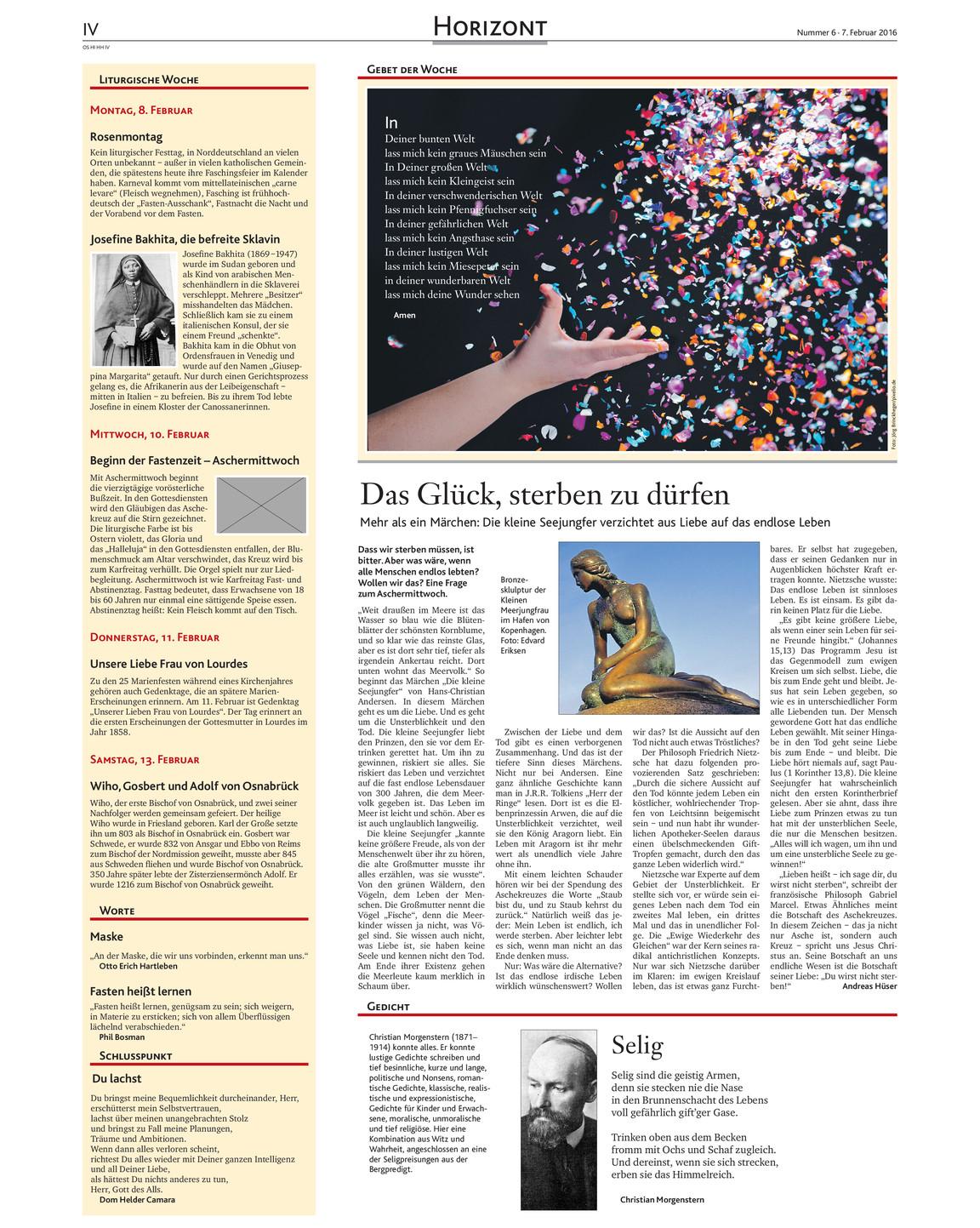 Kirchenzeitung 06 2016 Kirchenzeitung Hildesheim