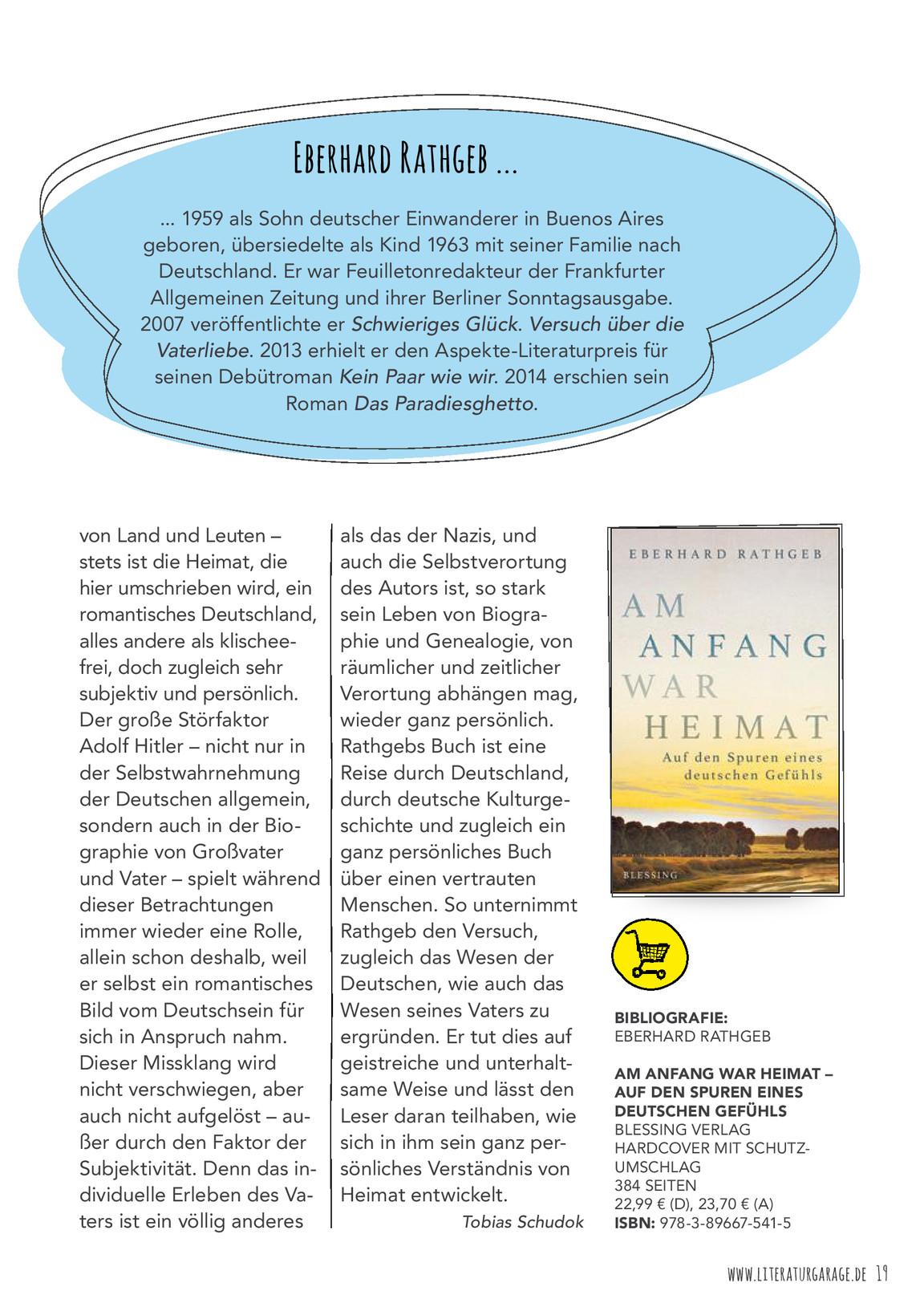 Ausgabe 2/2016   Literatur Garage