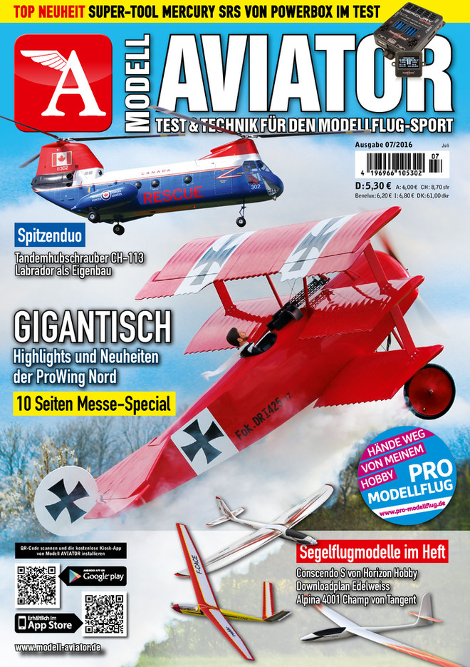 Modell AVIATOR Ausgabe 07/2016