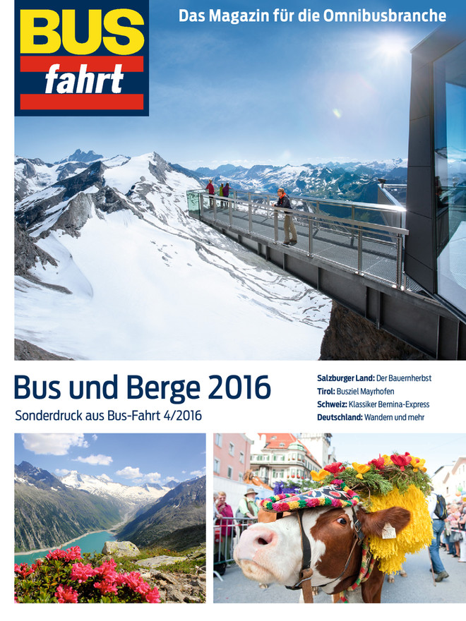 Bus-Fahrt Sonderdruck – Bus und Berge 2016