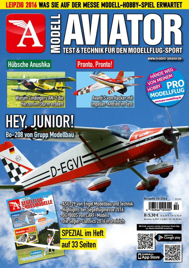 Modell AVIATOR Ausgabe 10/2016