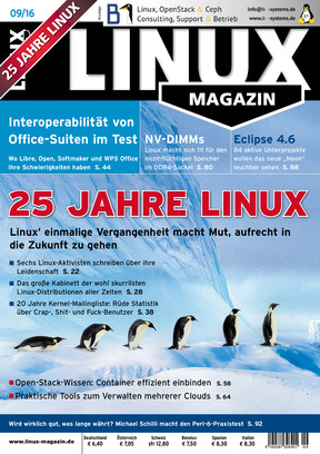 Linux Magazin 09/2016 Linux Magazin