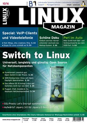 Linux Magazin 10/2016 Linux Magazin
