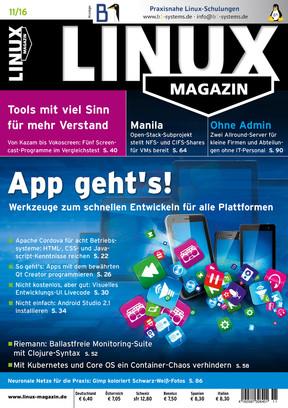 Linux Magazin 11/2016 Linux Magazin