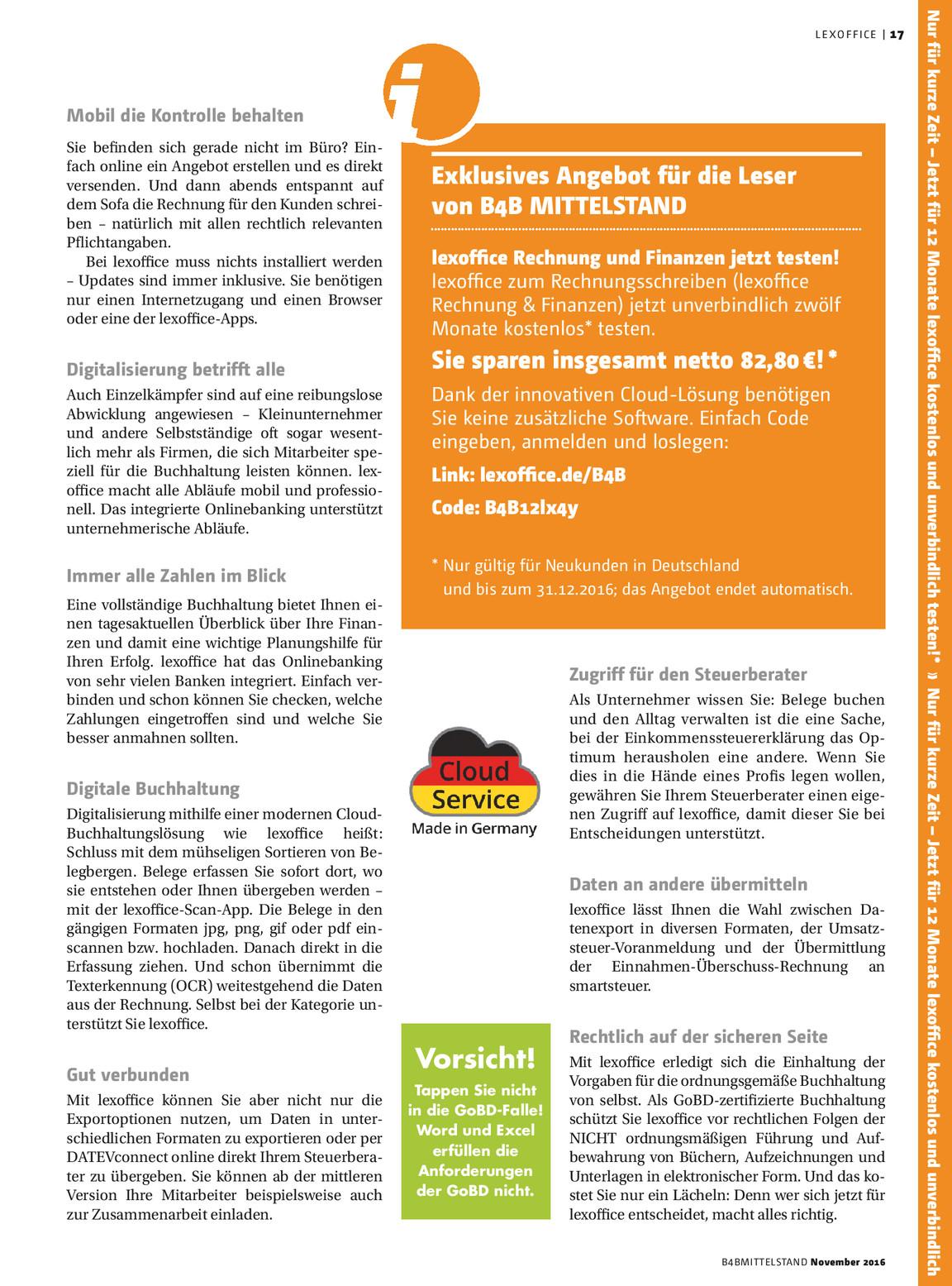 B4b Mittelstand 0216 Vmm Wirtschaftsverlag Kiosk
