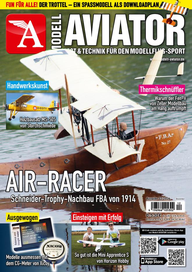 Modell AVIATOR Ausgabe 12/2016
