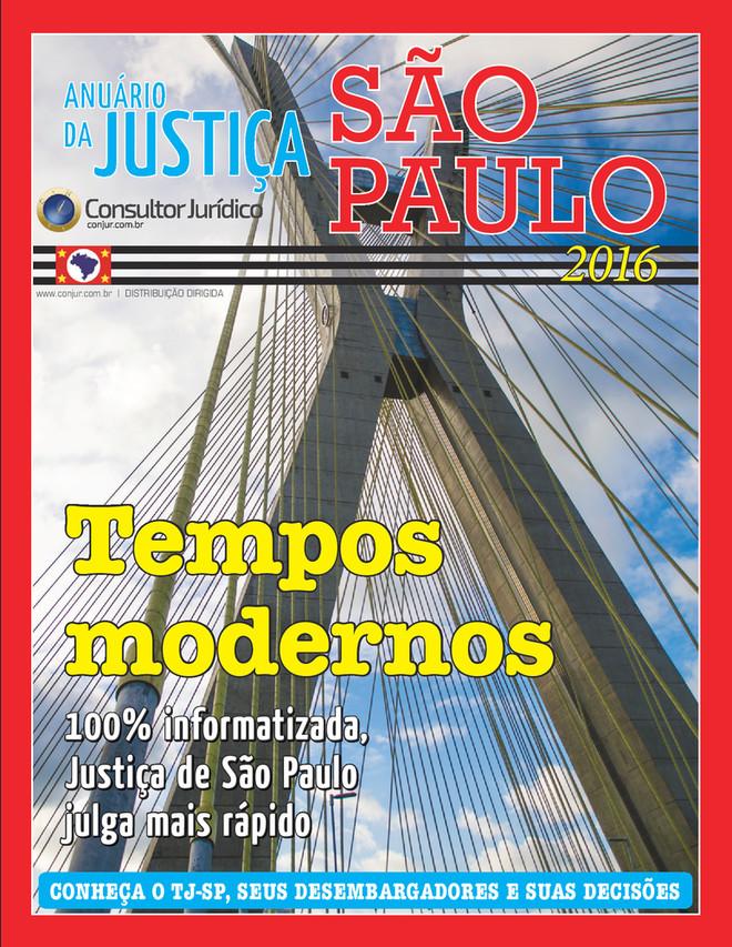 Anuário da Justiça São Paulo 2016