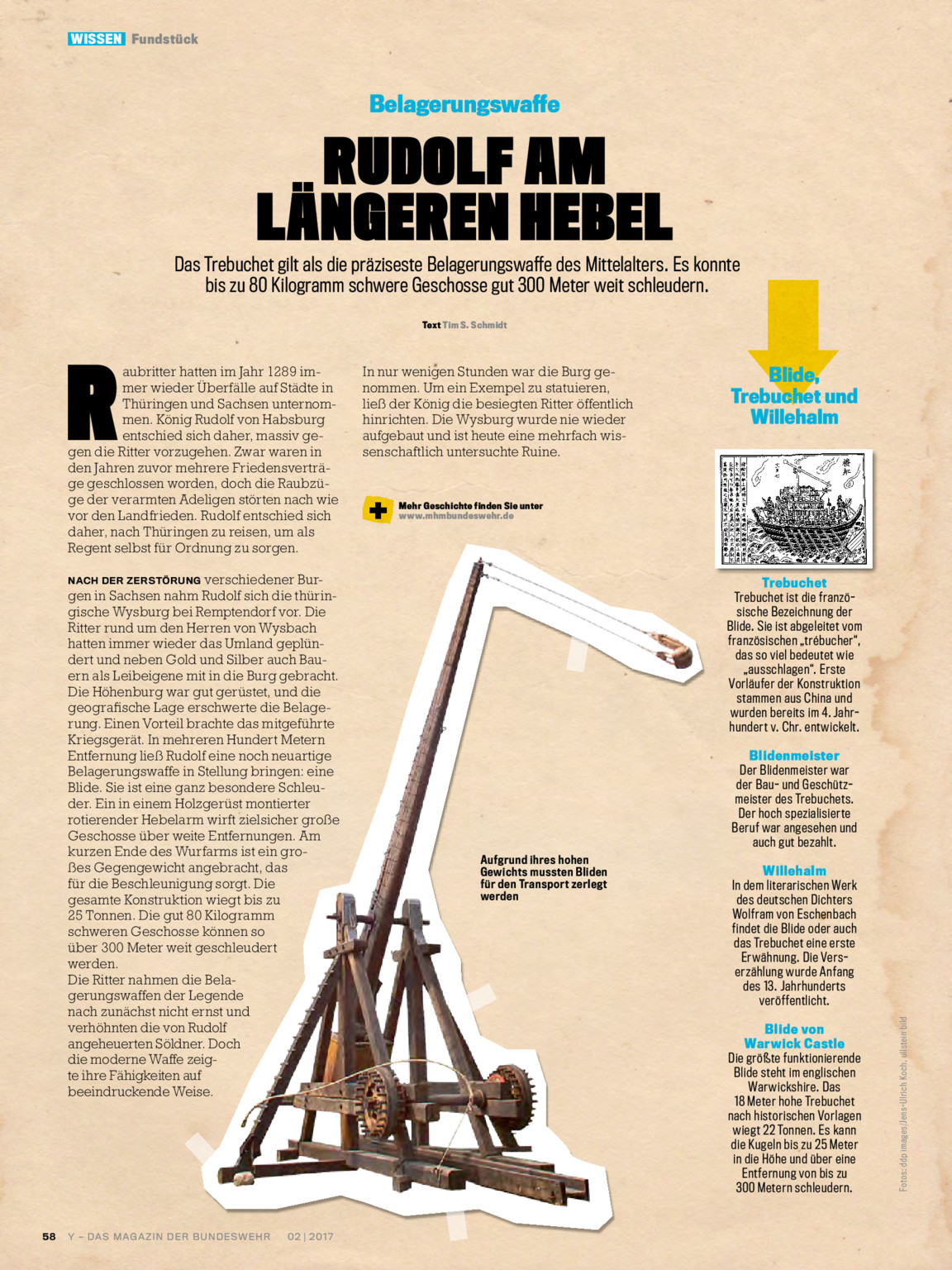 Y Magazin 02 2017 Bundeswehr Media Trebuchet Diagram The Following