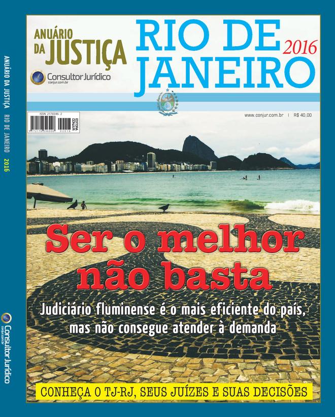 Anuário da Justiça Rio de Janeiro 2016