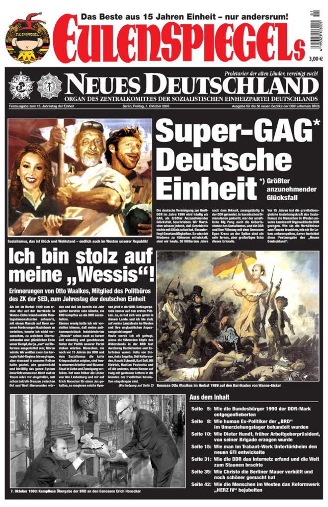 EULENSPIEGELs Neues Deutschland