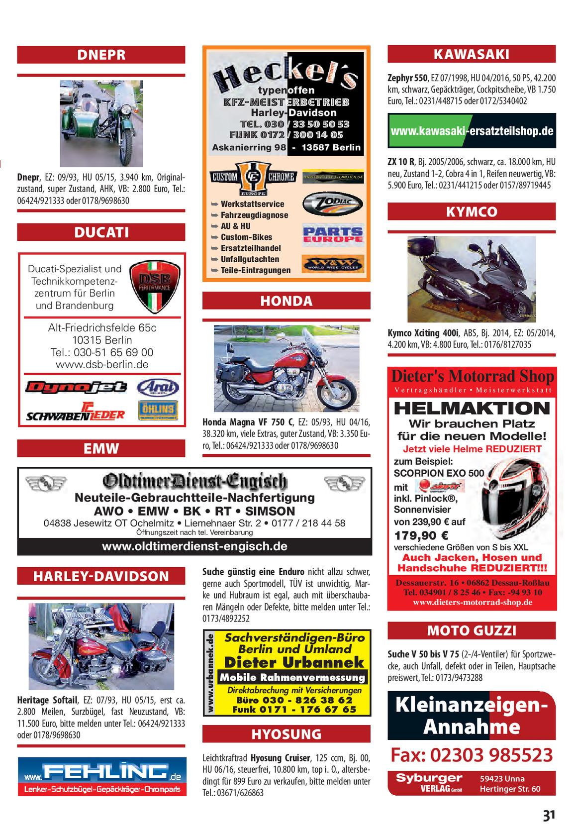Motorradszene Spinner 0215 Motorradszene