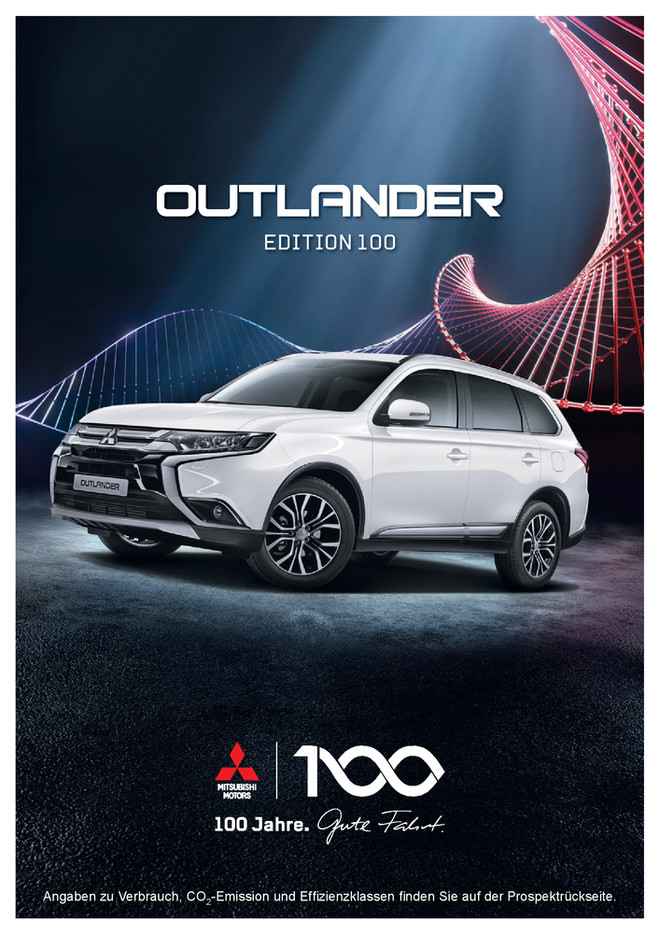 Outlander Edition 100 Sondermodellprospekt 08/2017