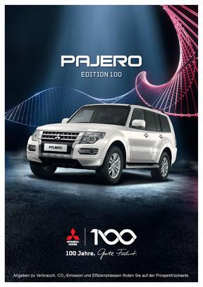 Pajero Edition 100 Sondermodellprospekt 09/2017