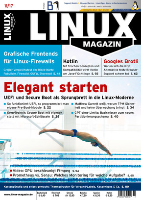 Linux Magazin 11/2017 Linux Magazin
