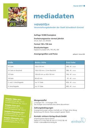Mediadaten Events 2017