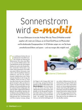 Das Haus Spezial: eMobilität