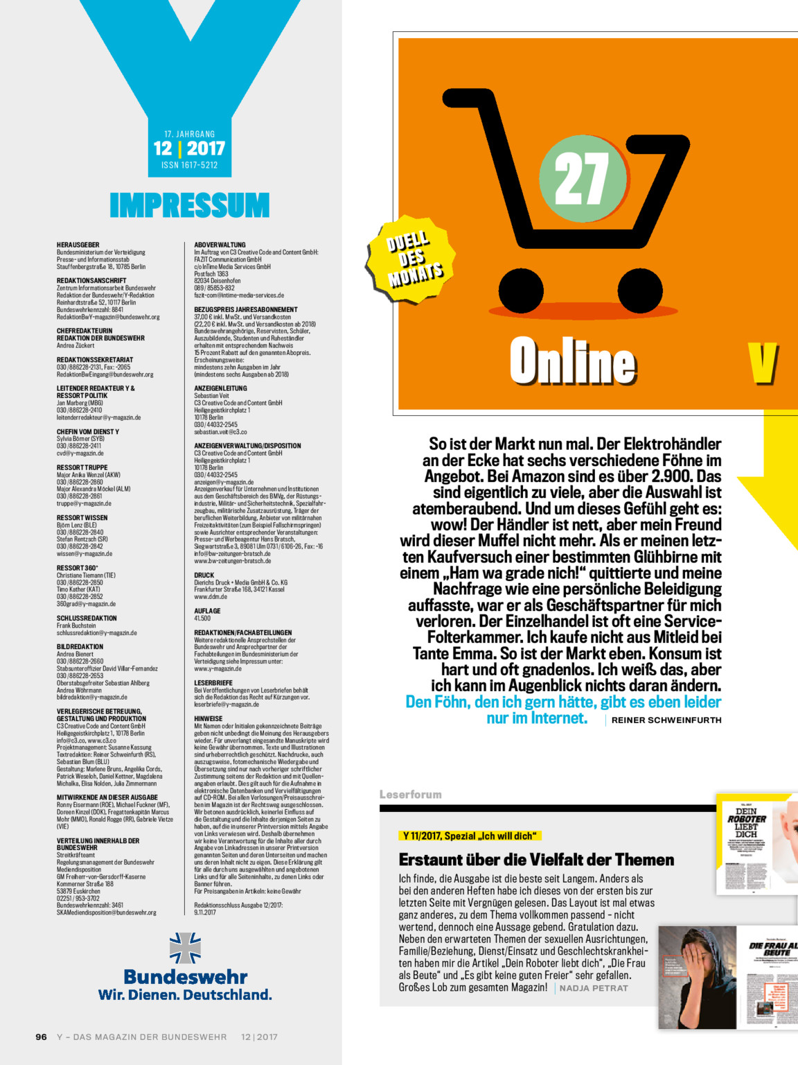 Y Magazin 122017 Bundeswehr Media