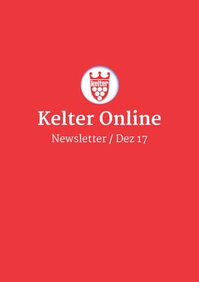 Kelter Online Newsletter Dezember 2017