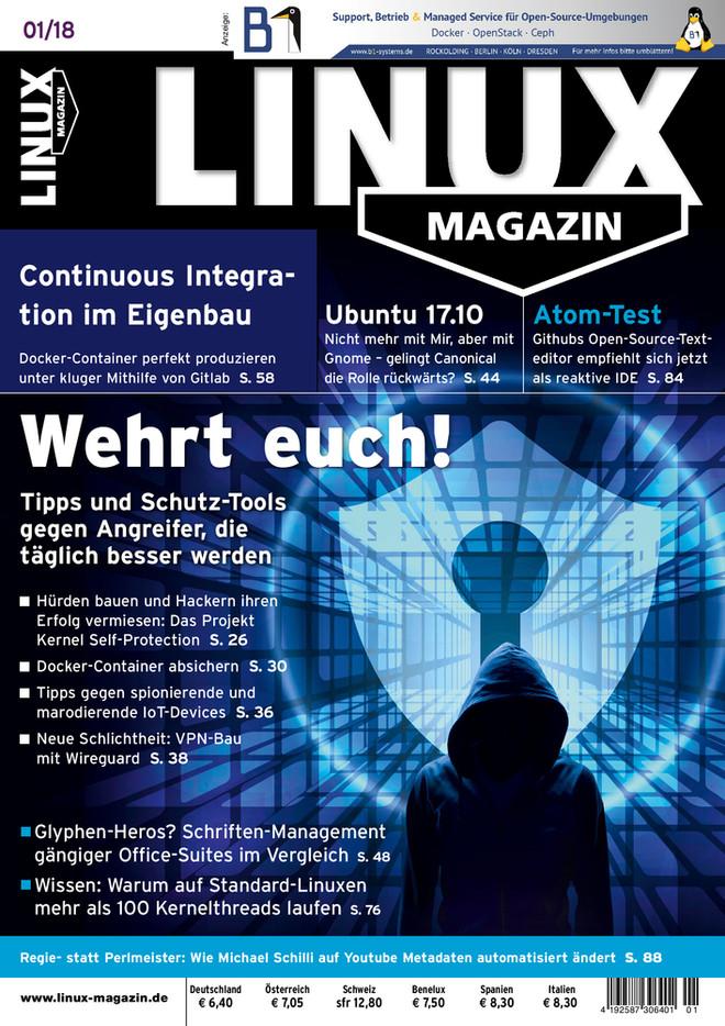 Linux-Magazin 01/2018 Linux Magazin