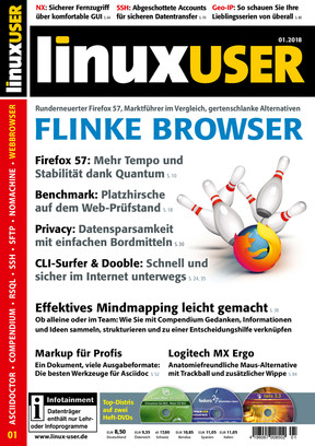 LinuxUser 01/2018: Flinke Browser