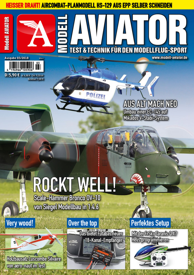 Modell AVIATOR Ausgabe 03/2018