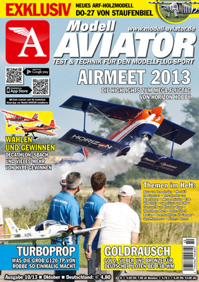 Modell AVIATOR Ausgabe 10/2013