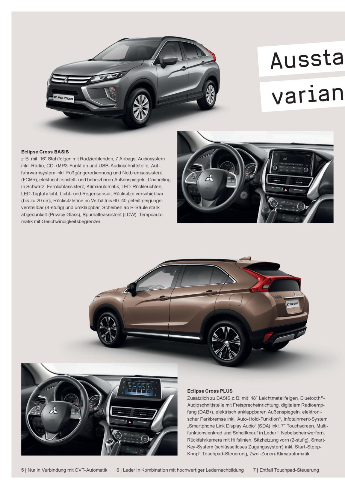 Eclipse Cross Modellprospekt 01/2018 | Mitsubishi Motors Publikationen