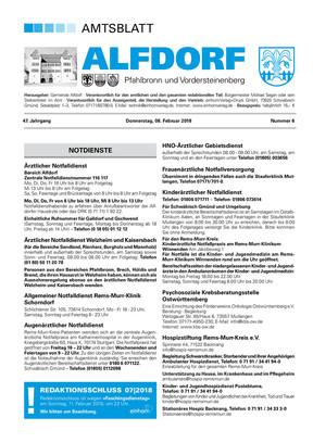 Amtsblatt Alfdorf KW 06 2018