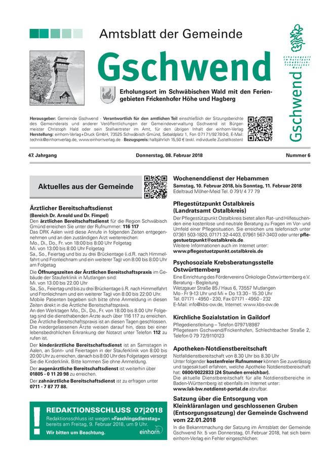 Amtsblatt Gschwend KW 06 2018