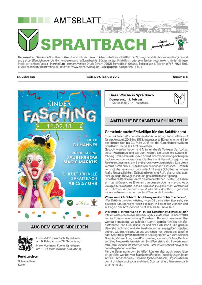 Amtsblatt Spraitbach KW 06 2018