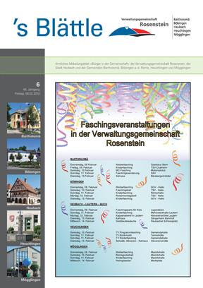 Verwaltungsgemeinschaft Rosenstein KW 06 2018