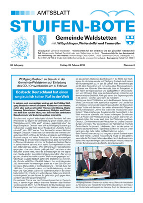 Stuifen-Bote Amtsblatt Waldstetten KW 06 2018