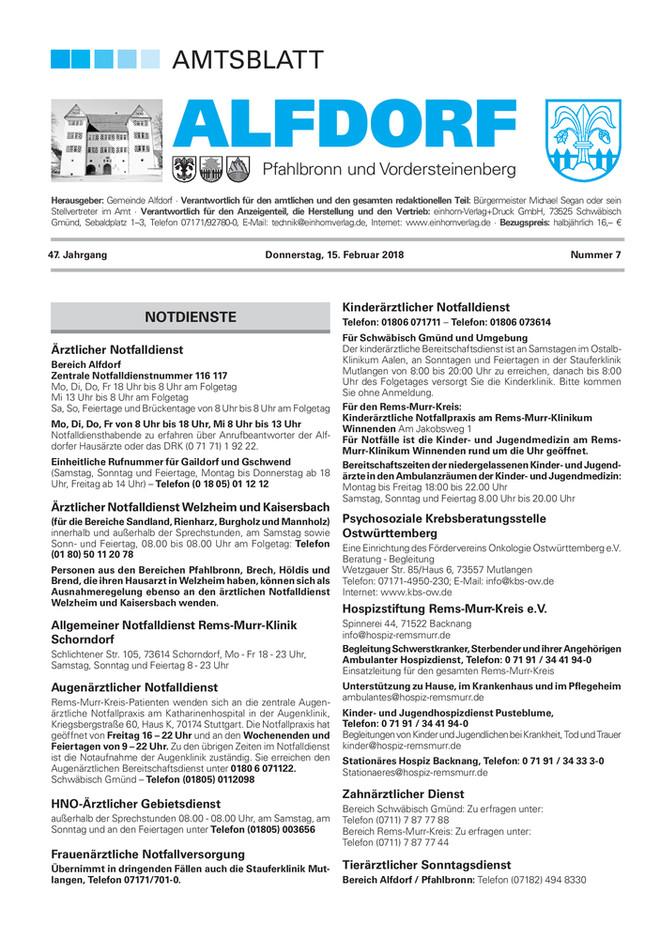 Amtsblatt Alfdorf KW 07 2018