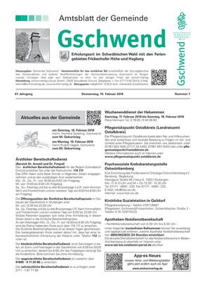 Amtsblatt Gschwend KW 07 2018