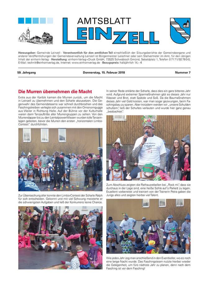 Amtsblatt Leinzell KW 07 2018