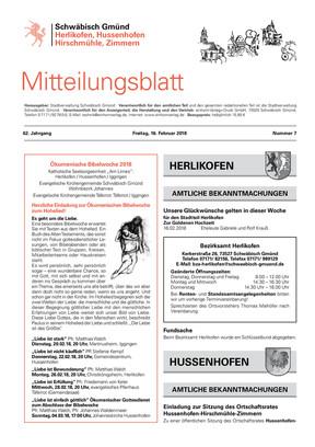Mitteilungsblatt Herlikofen, Hussenhofen, Hirschmühle, Zimmern KW 07 2018
