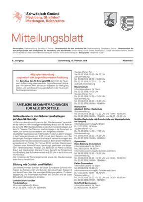 Mitteilungsblatt Straßdorf, Metlangen, Reitprechts und Rechberg KW 07 2018